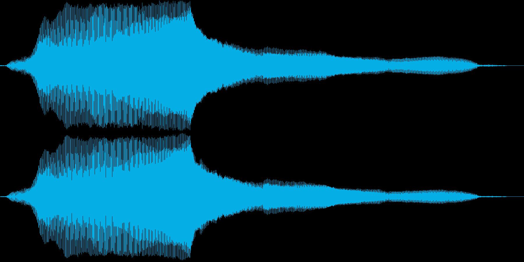 猫の鳴き声(癖のない声)の再生済みの波形