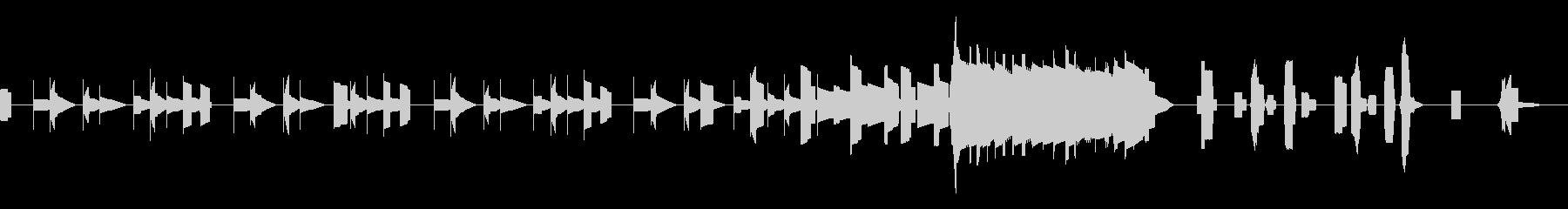 チップチューンの明るいジングルの未再生の波形