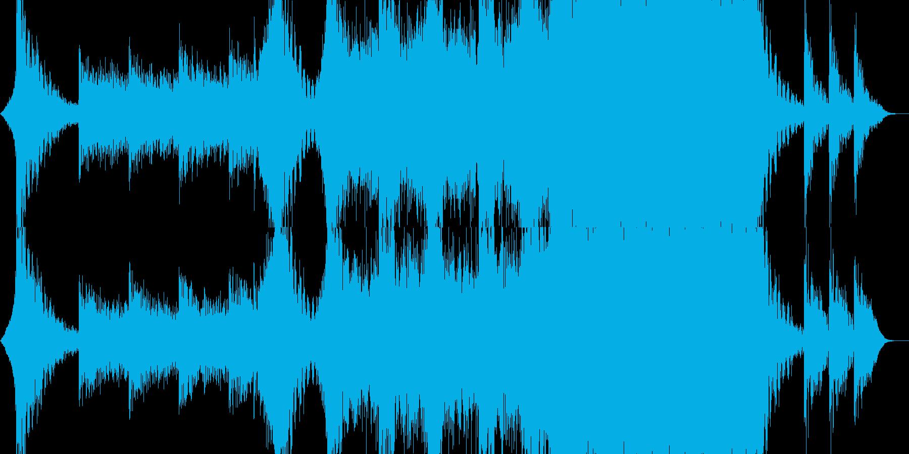 ハリウッド風エピック系トレーラーの再生済みの波形