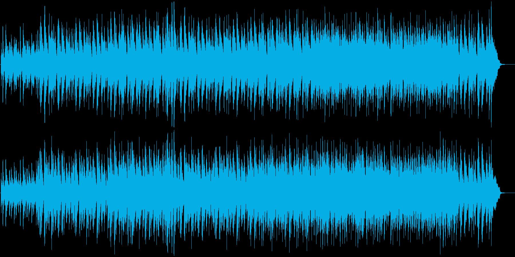 軽快なジャズトリオのオリジナル曲の再生済みの波形