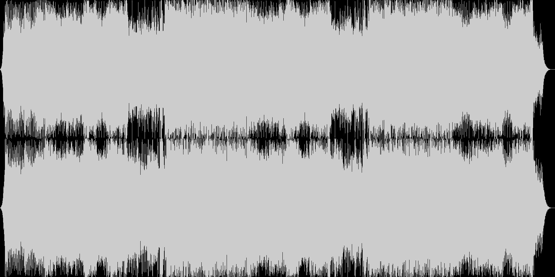 ユーロビート風の戦闘BGMの未再生の波形