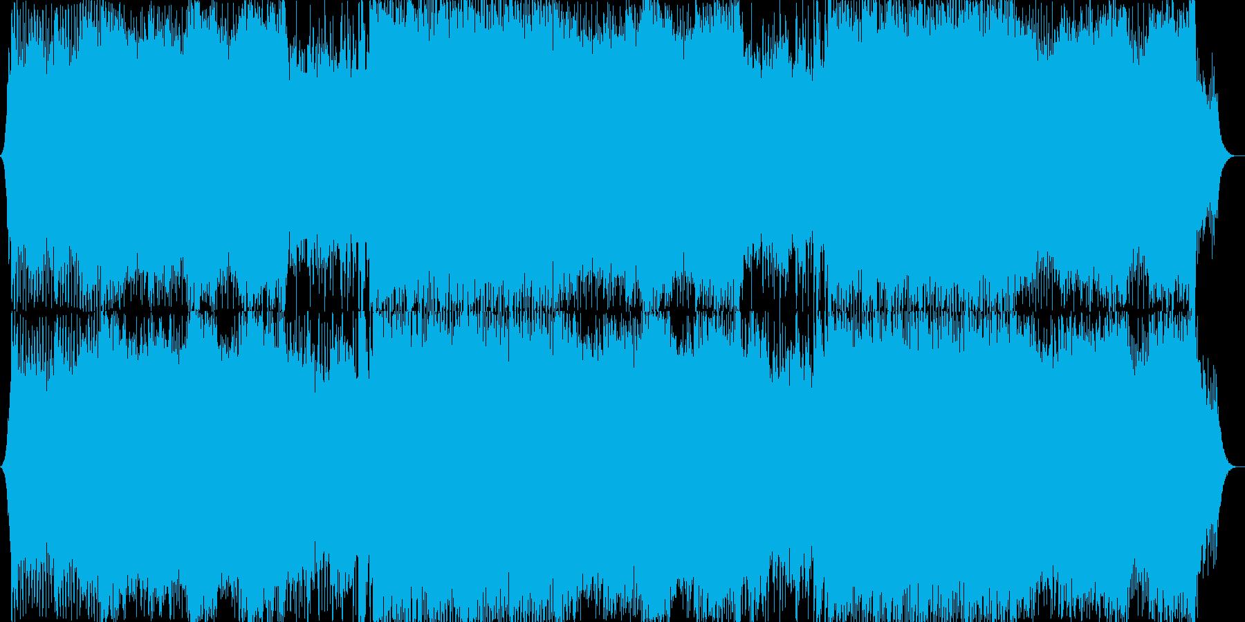 ユーロビート風の戦闘BGMの再生済みの波形