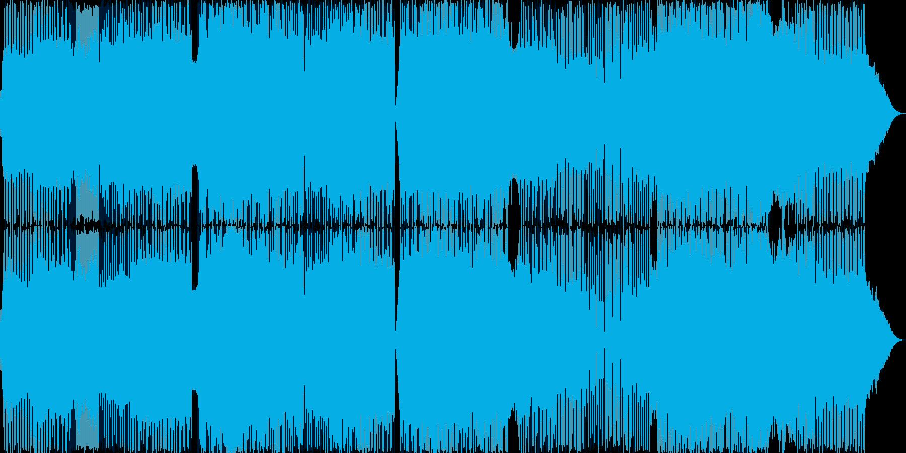 疾走感のあるロックインストの再生済みの波形