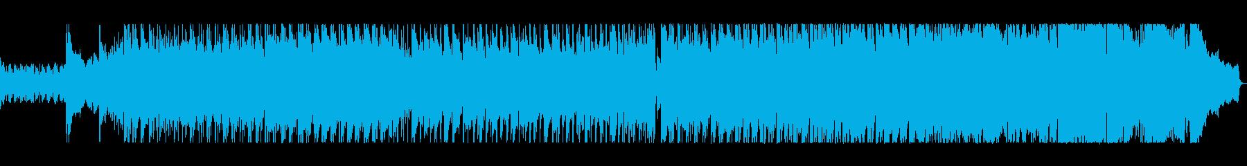 明るく疾走感のあるアップテンポメロディの再生済みの波形