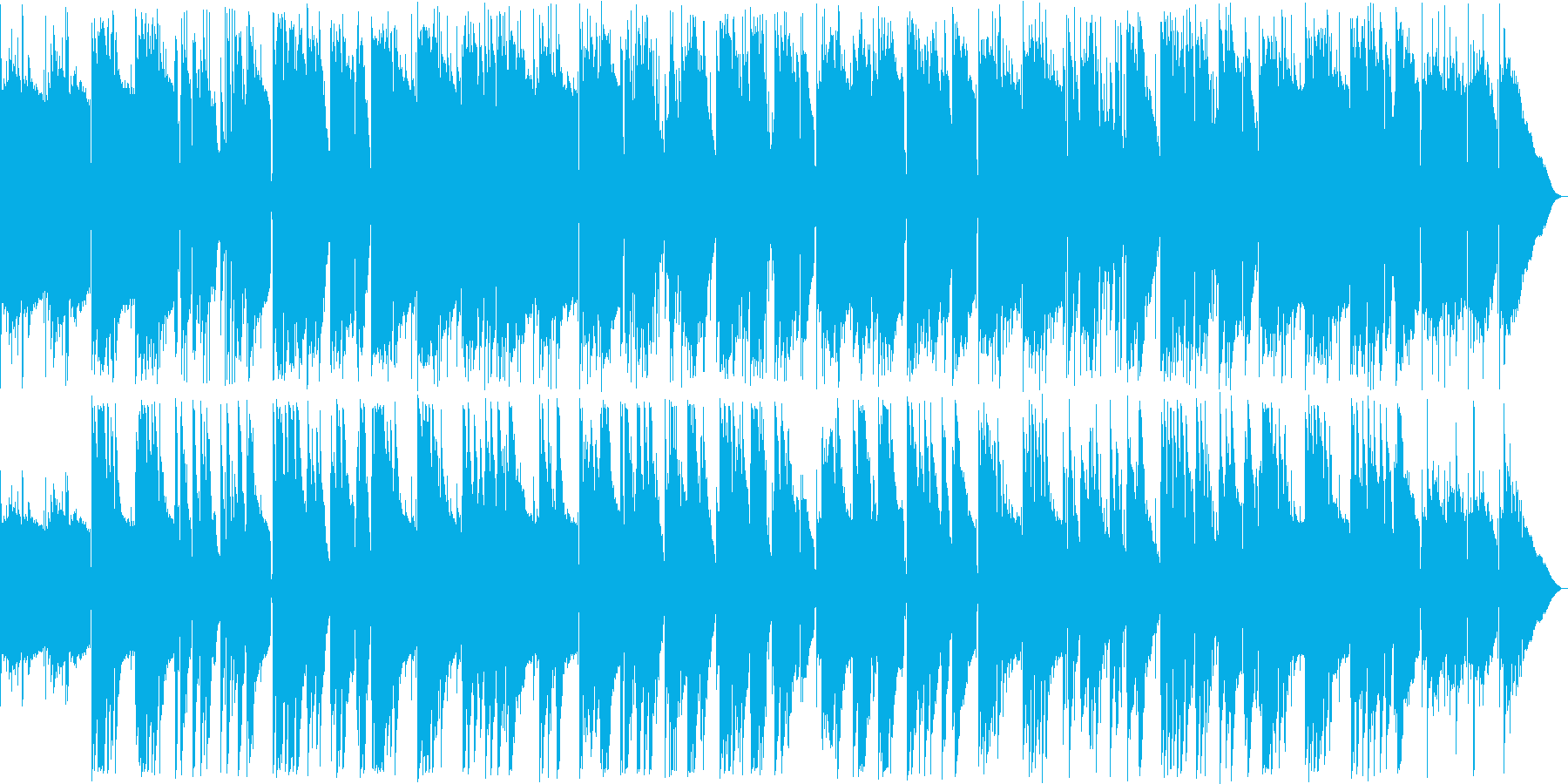 穏やかなアコースティックバラードの再生済みの波形