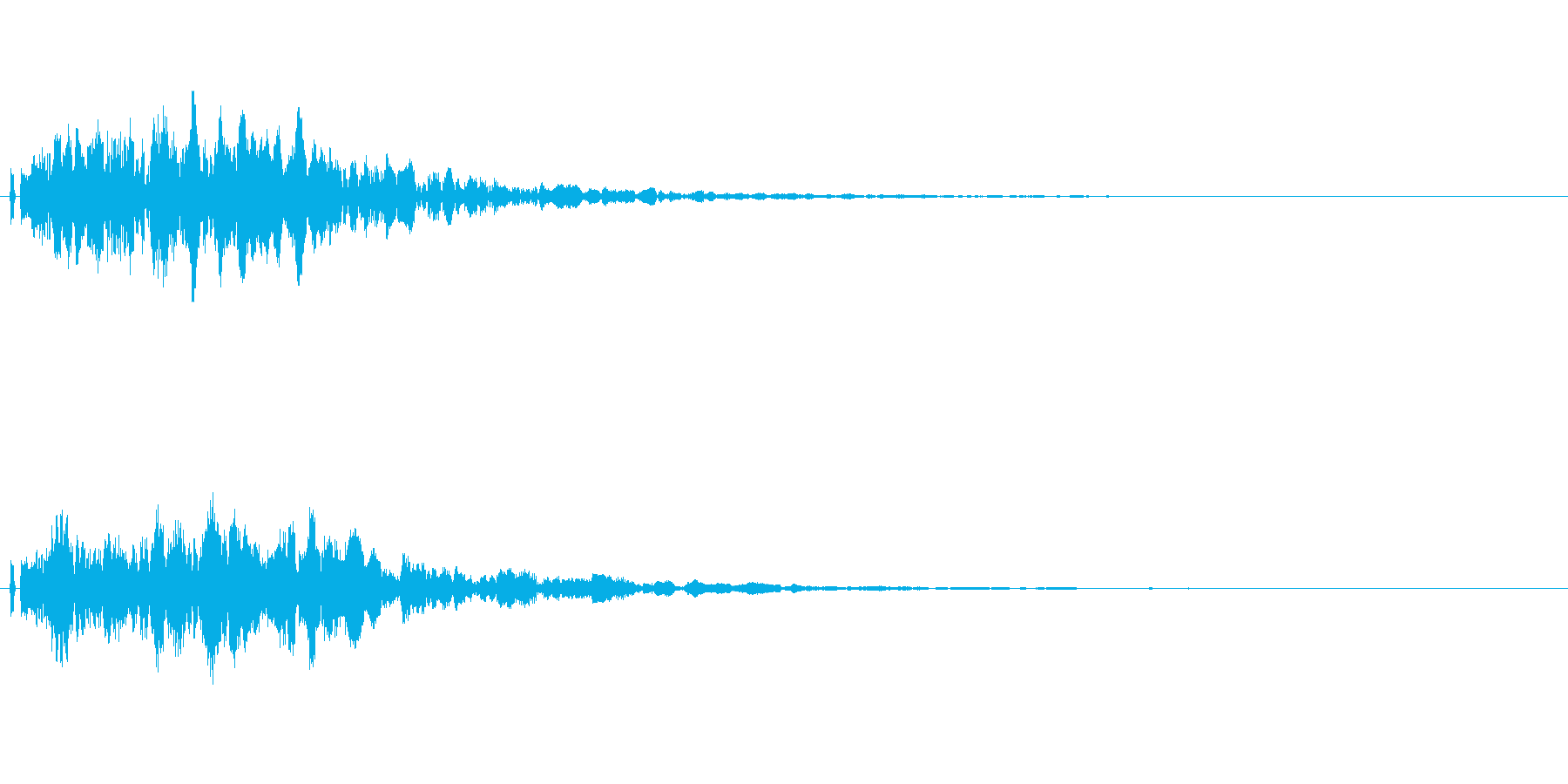 フワッとした決定音。シンセ系の再生済みの波形