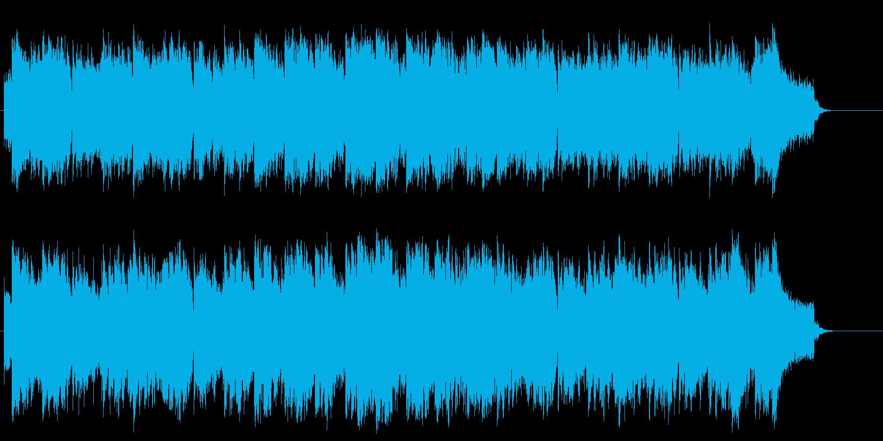 懐かしく朗らかなニュー・エイジ系BGMの再生済みの波形