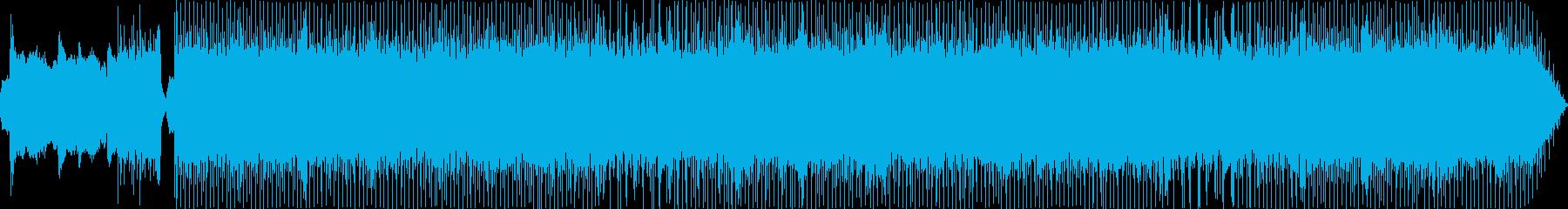 壮大で重厚なメタル系ボス戦用BGMの再生済みの波形