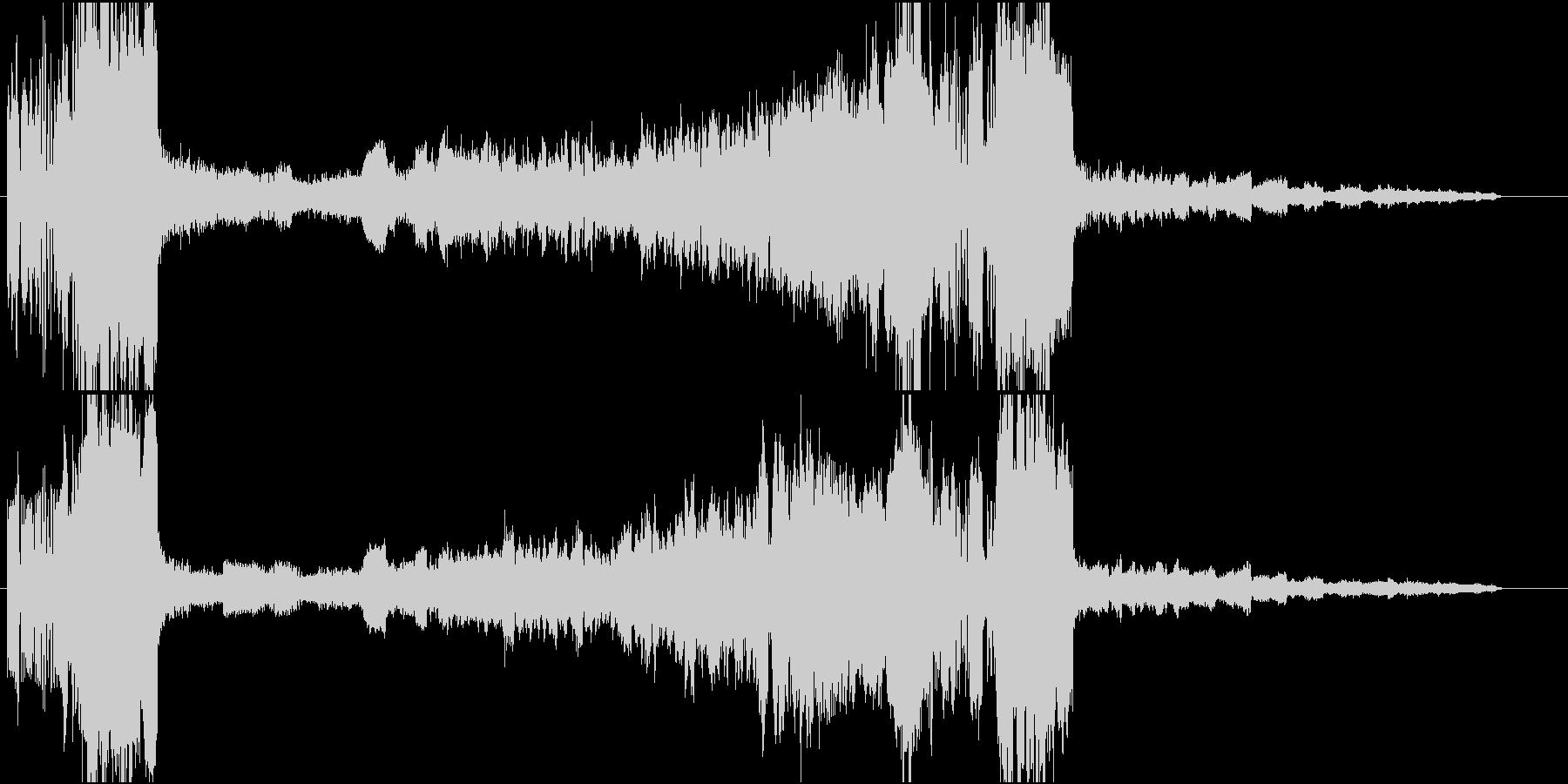金管のファンファーレで始まる曲ですの未再生の波形