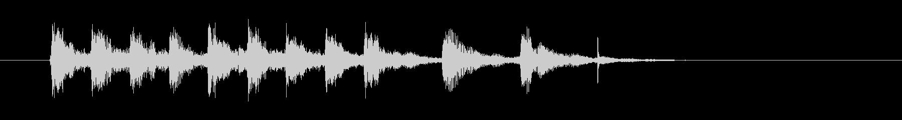 ピチカートが特徴のジングル、サウンドロゴの未再生の波形