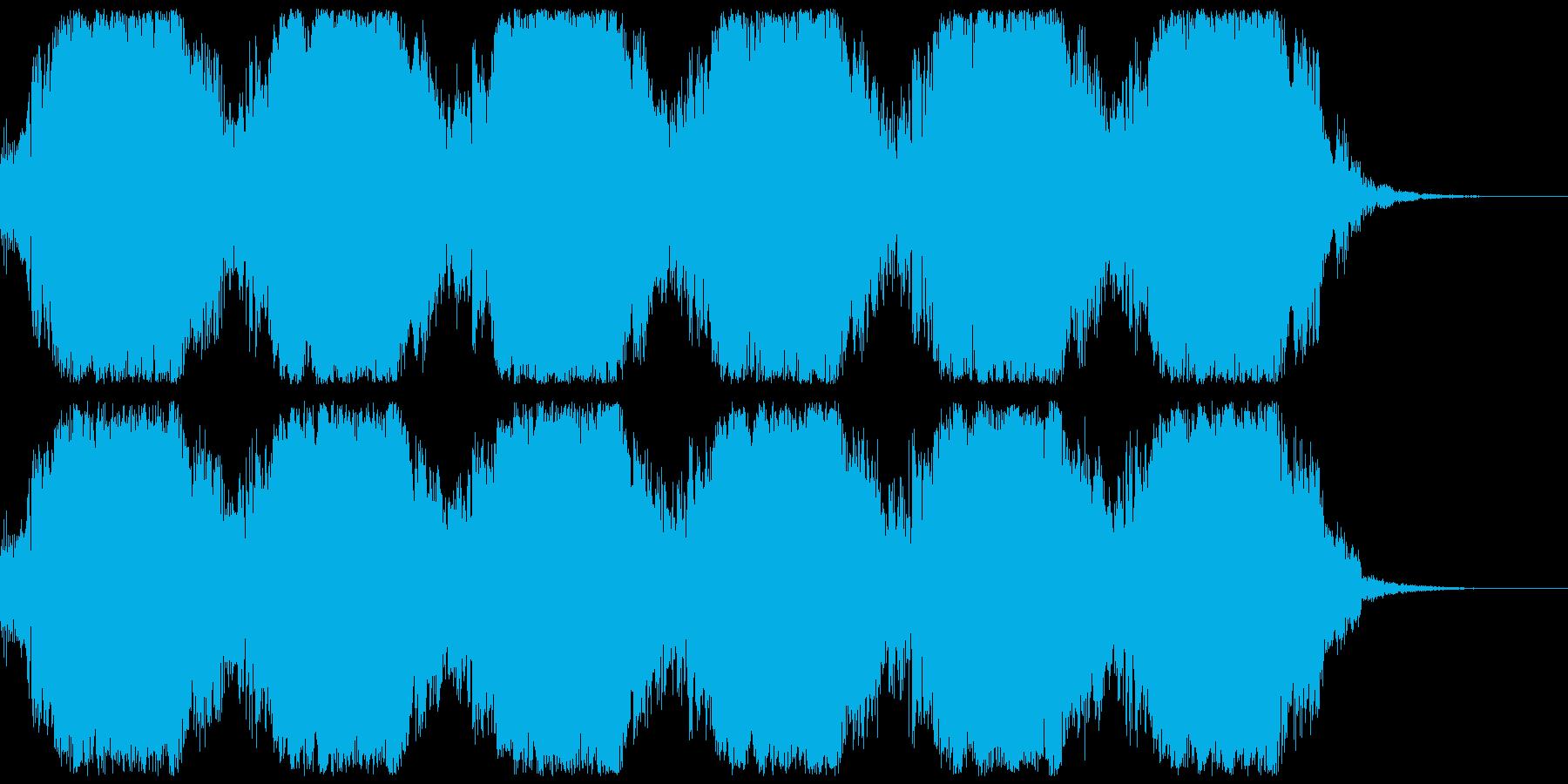 SF背景音(ブワ〜、ボワ〜)BPM120の再生済みの波形