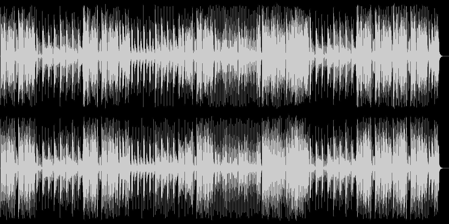 シンセサイザーが印象的な軽めの曲の未再生の波形