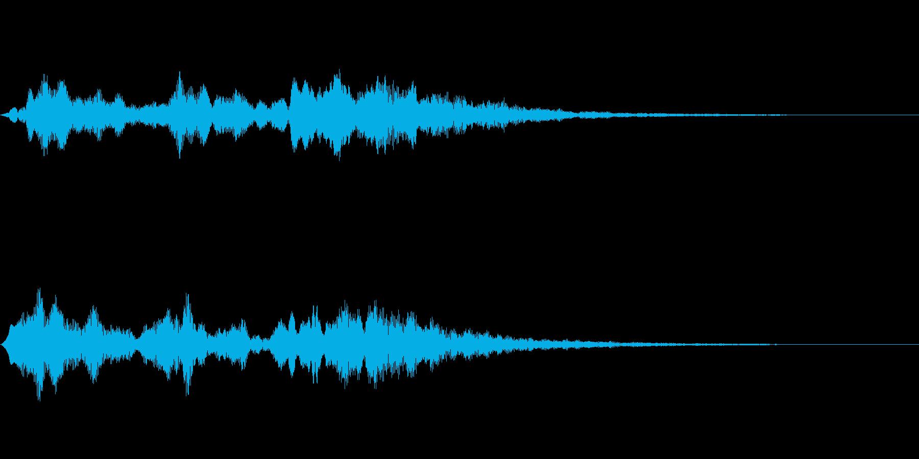 【SE 効果音】不気味な音14の再生済みの波形