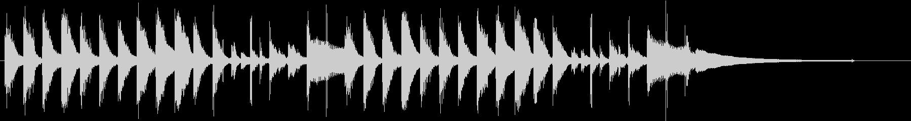 クリーン&シンプル&モダンなジングルの未再生の波形