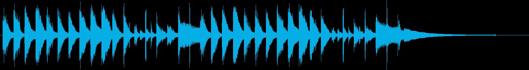 クリーン&シンプル&モダンなジングルの再生済みの波形