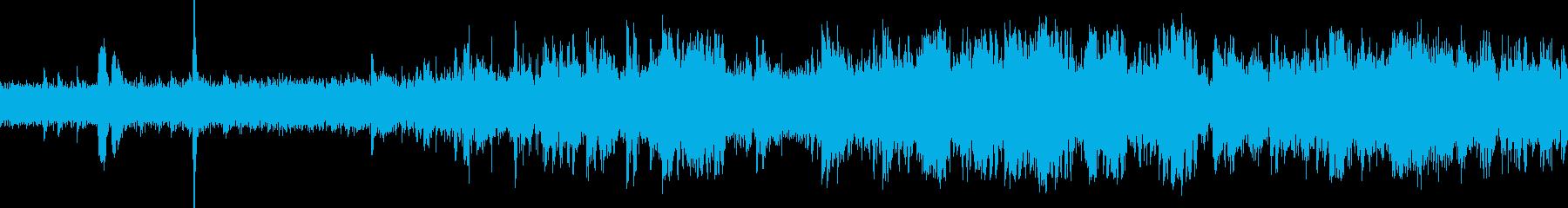 EC、列車の発車音(車内より収録)の再生済みの波形
