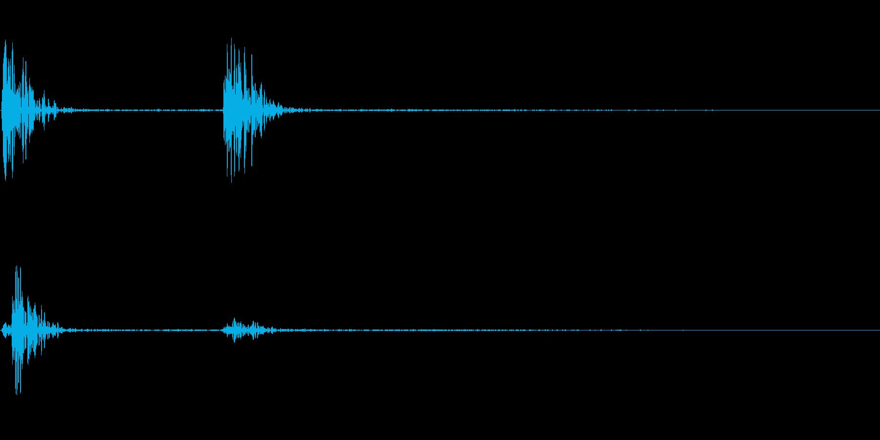 こんこん(ドアをノックする音)の再生済みの波形