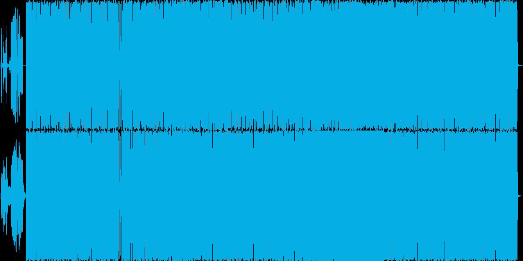 ダイヤルアップ音を使ったブレイクビーツ…の再生済みの波形