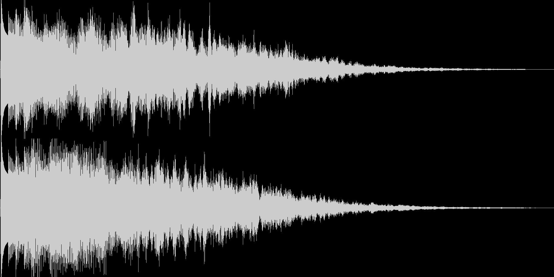 ピキーン(ゲーム、アプリ等の決定音等に)の未再生の波形