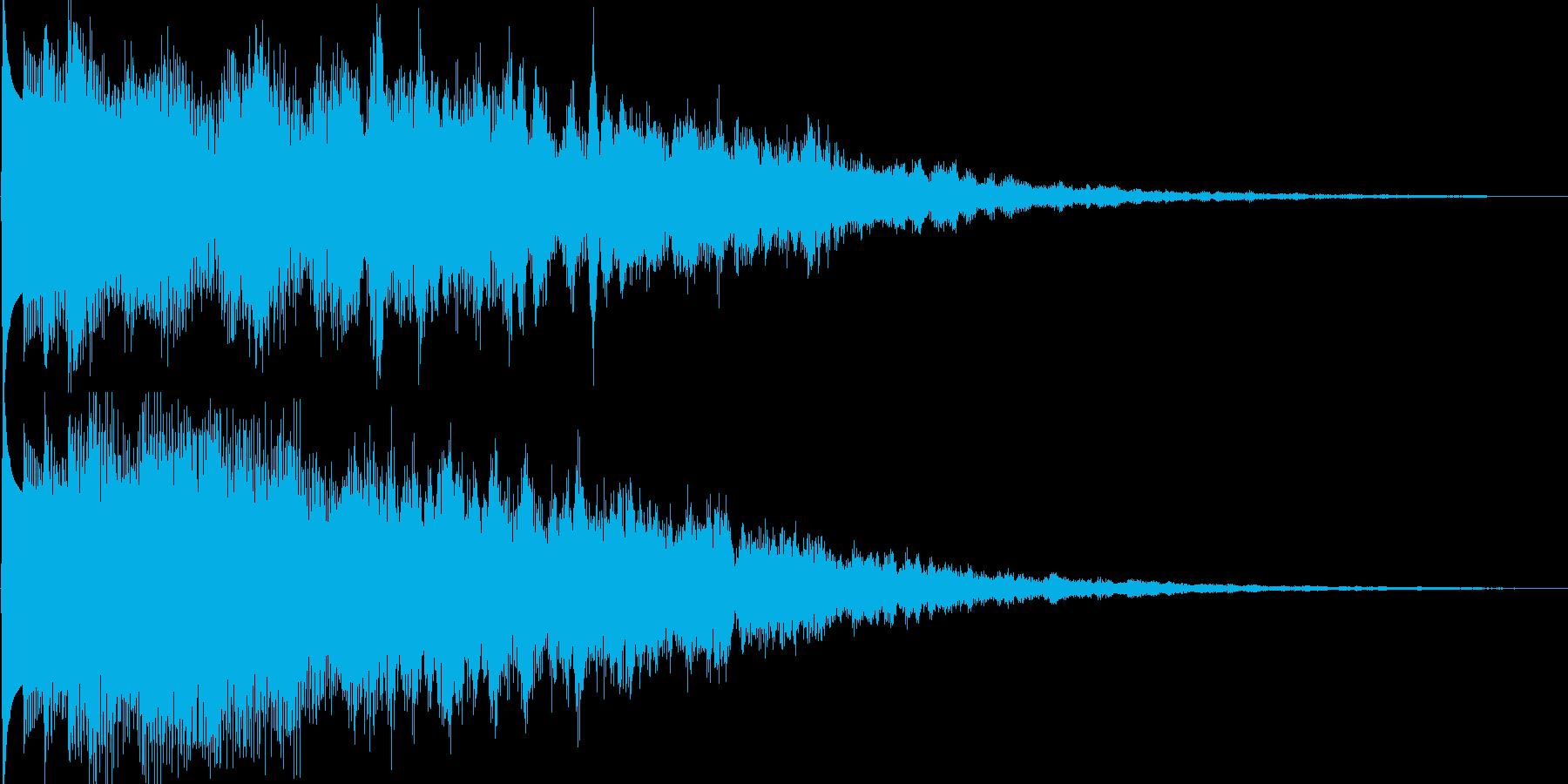 ピキーン(ゲーム、アプリ等の決定音等に)の再生済みの波形