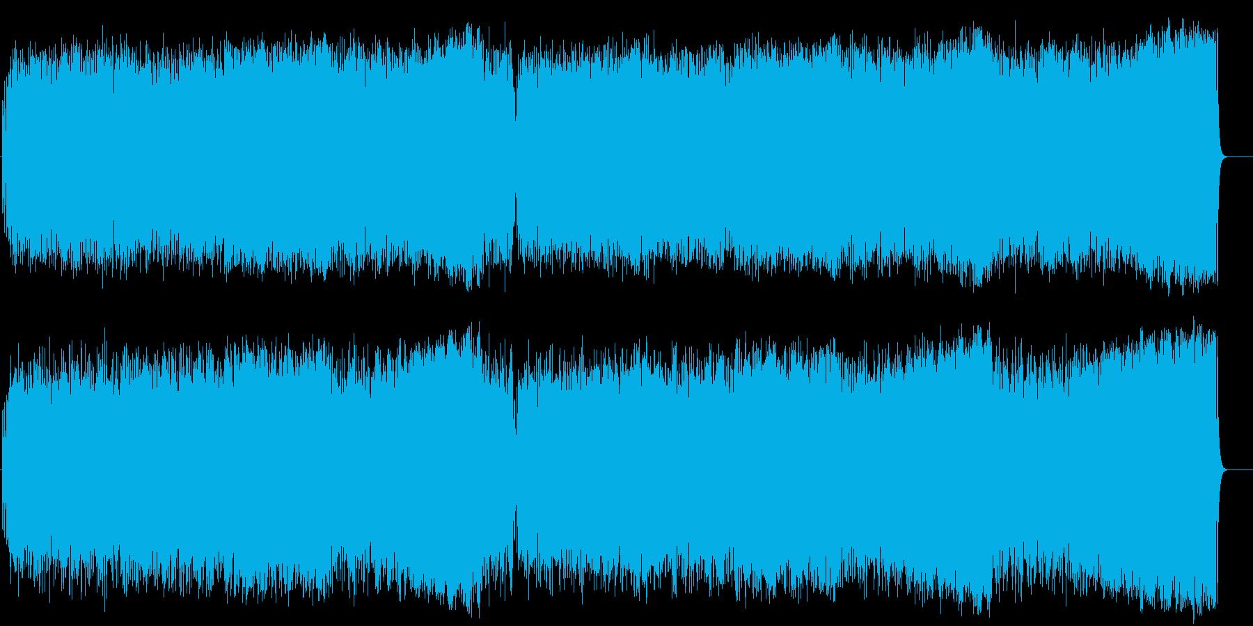 青空 元気 いきいき 軽快 テーマの再生済みの波形