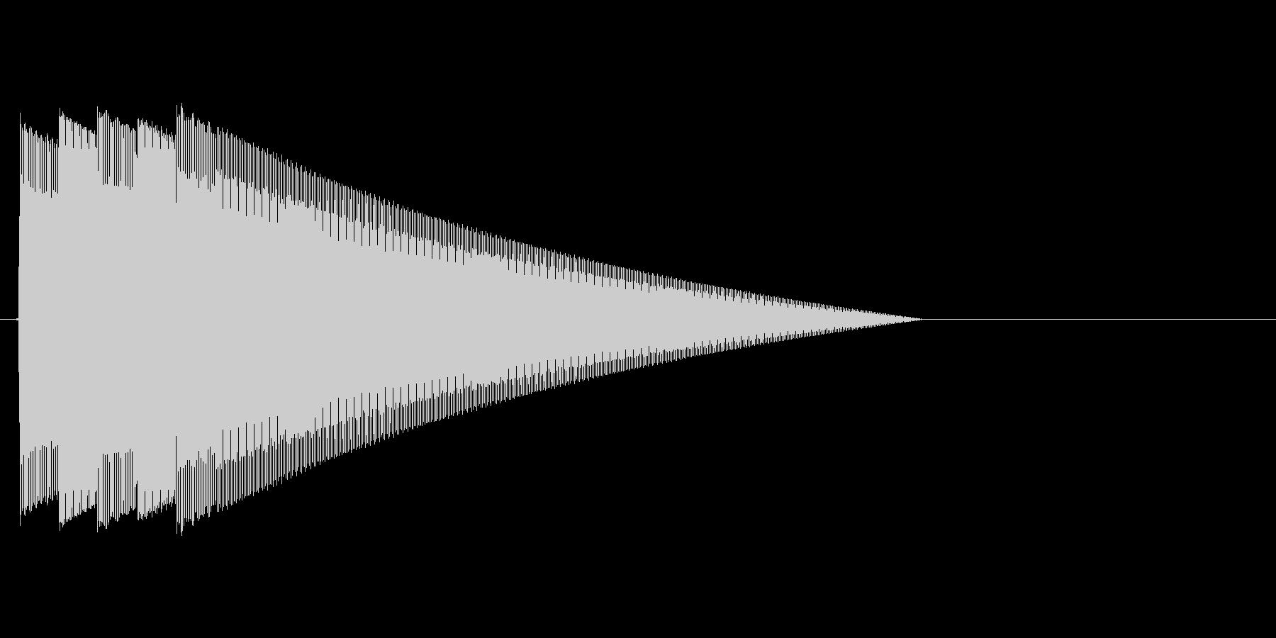 ピンポーン×3!シンプルな正解時の効果音の未再生の波形
