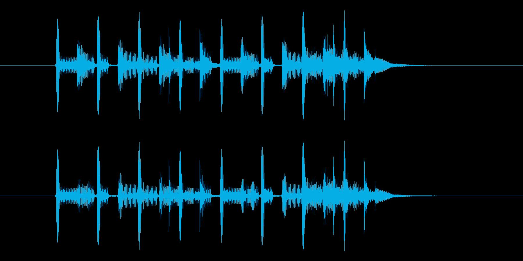 バンドサウンドなジングルの再生済みの波形