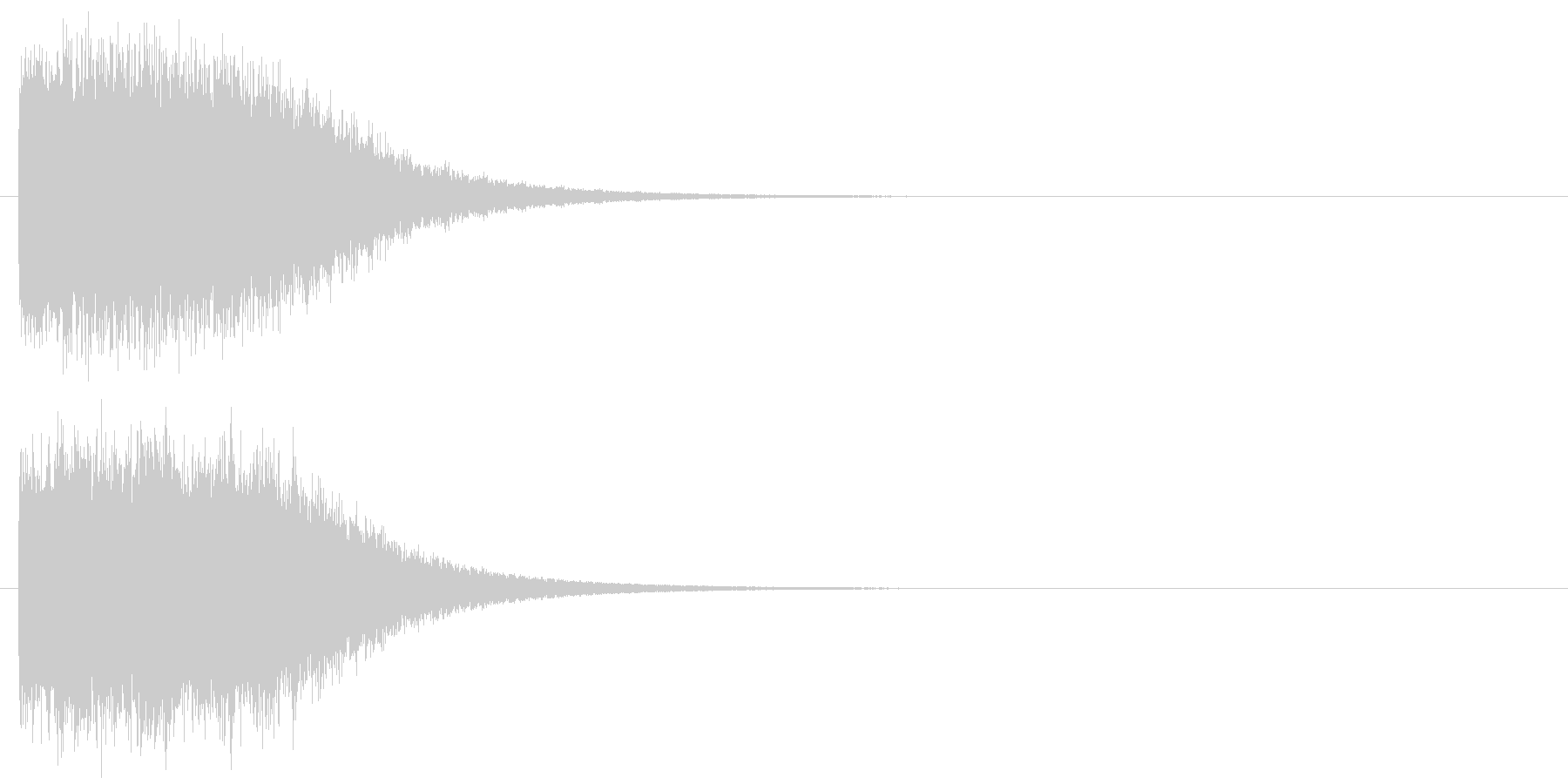 キーン 魔法 氷 インパクト音 ロゴの未再生の波形