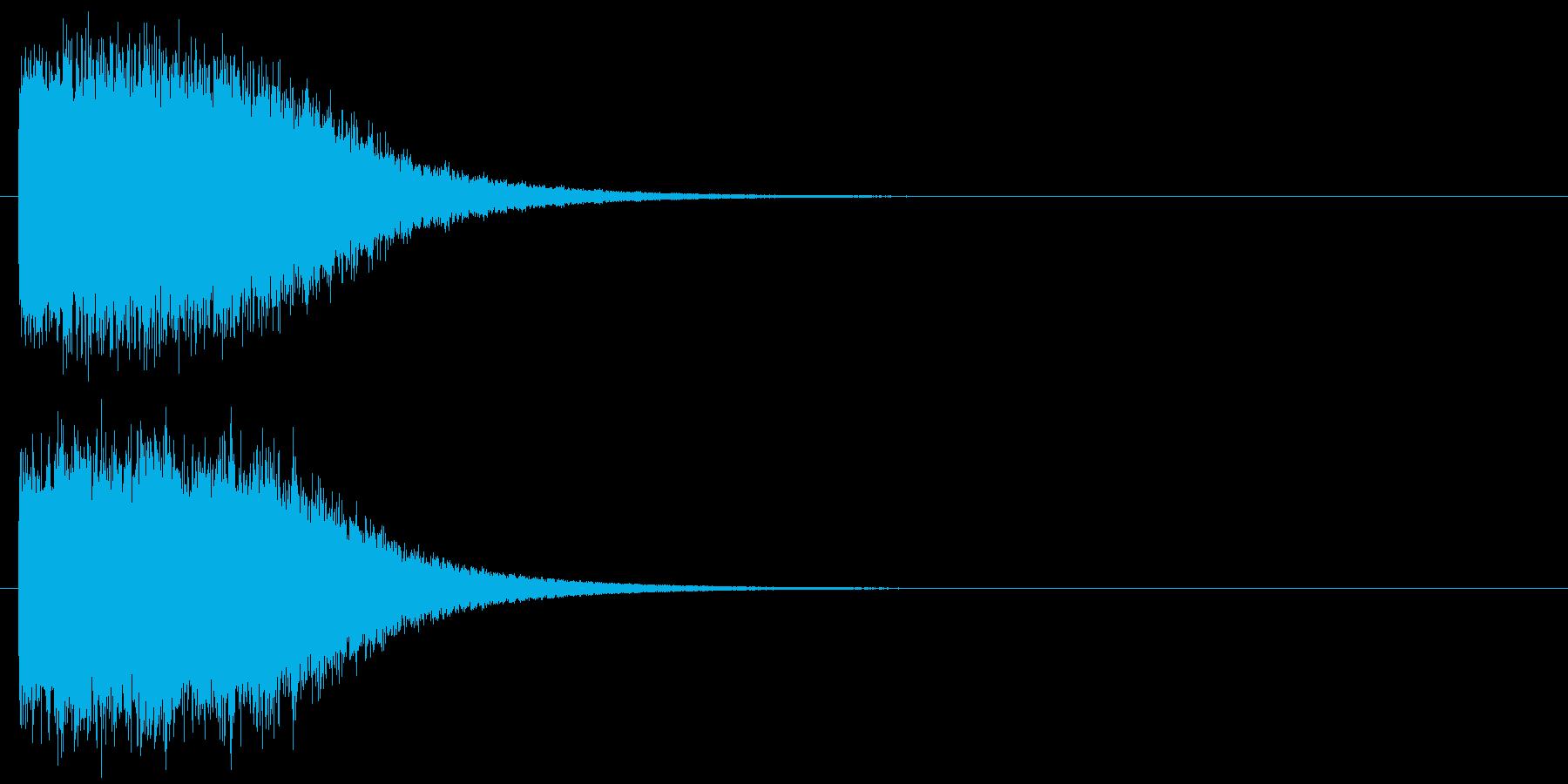 キーン 魔法 氷 インパクト音 ロゴの再生済みの波形