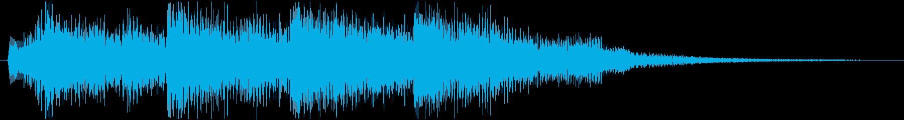 成功、クリア、決定、レベルアップ音の再生済みの波形