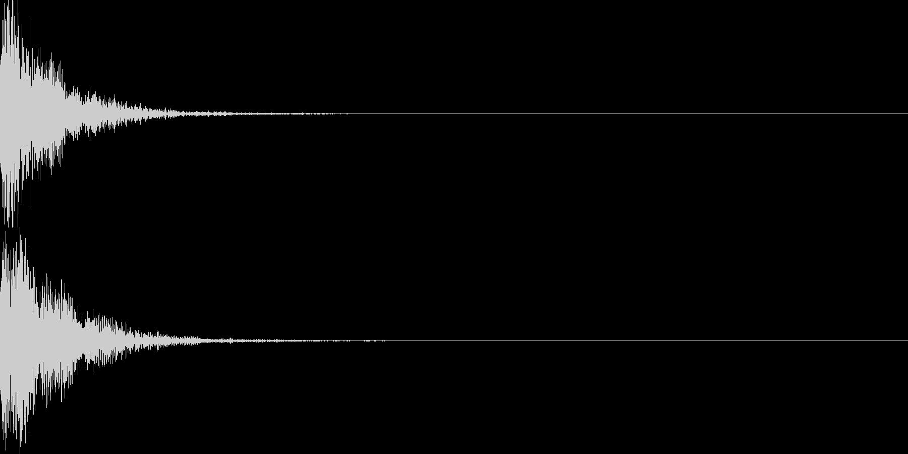 バウーン(破裂 NG オチ 失敗時など)の未再生の波形