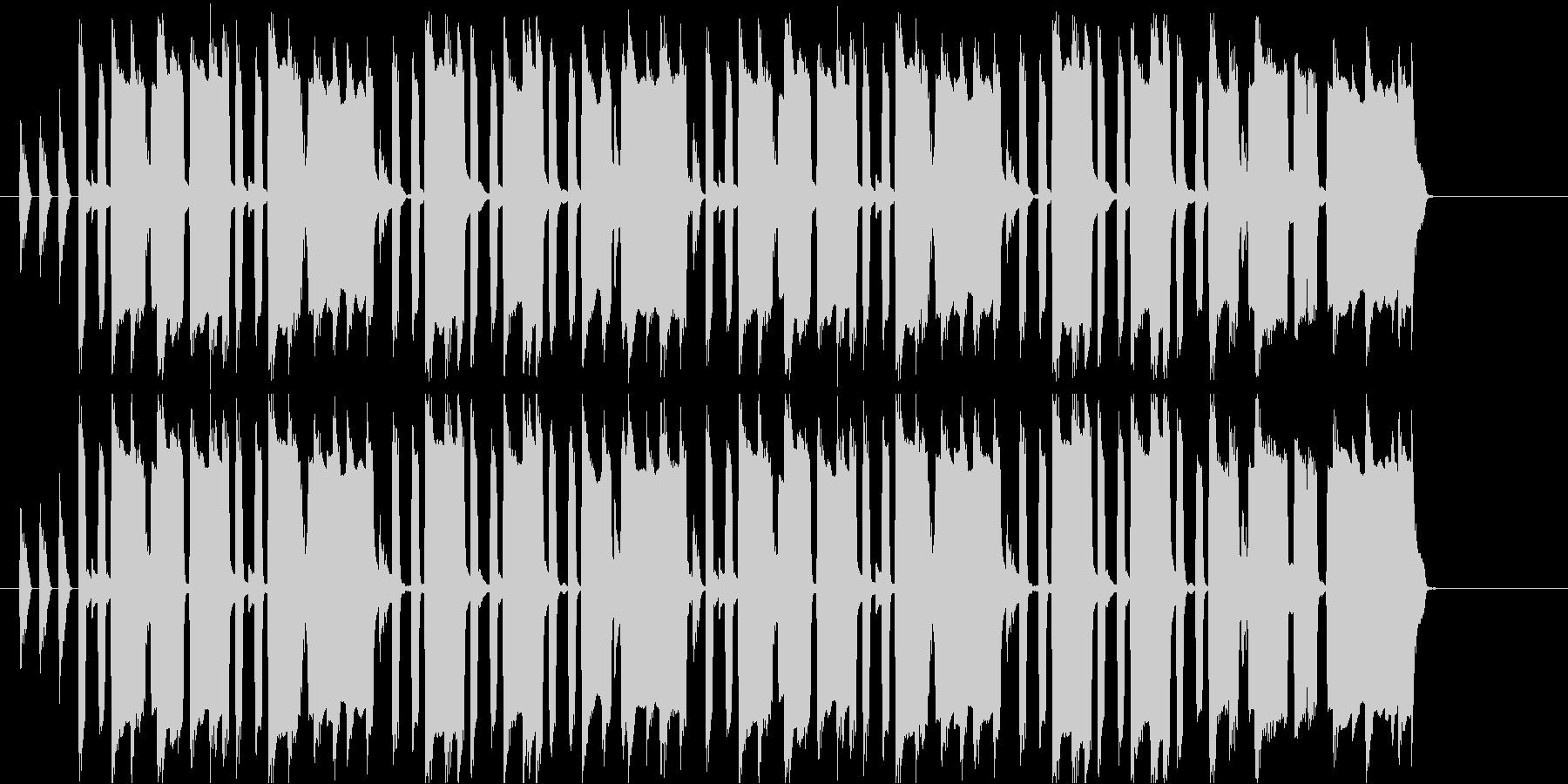 うきうきスキップする感じの曲の未再生の波形