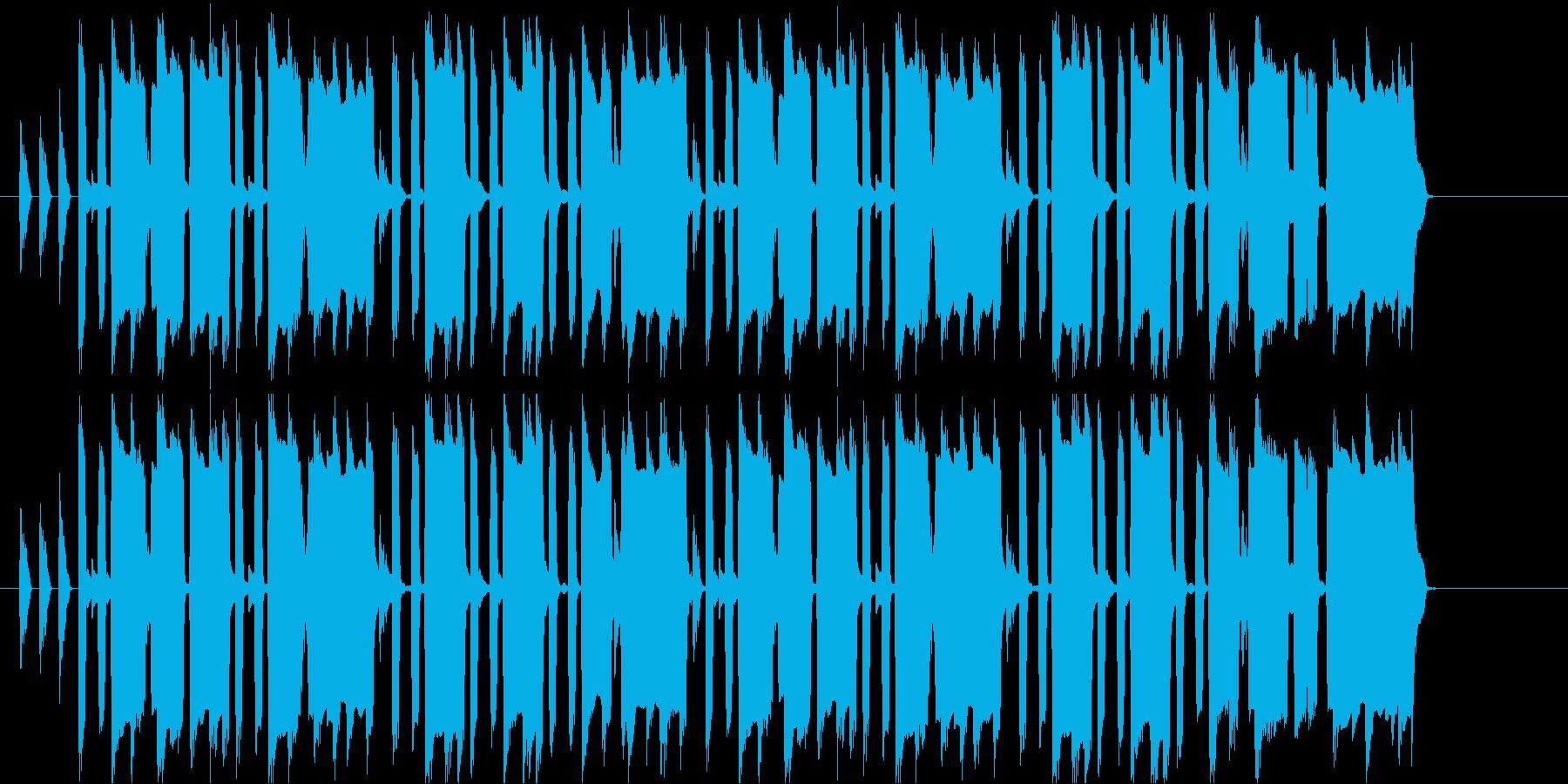 うきうきスキップする感じの曲の再生済みの波形