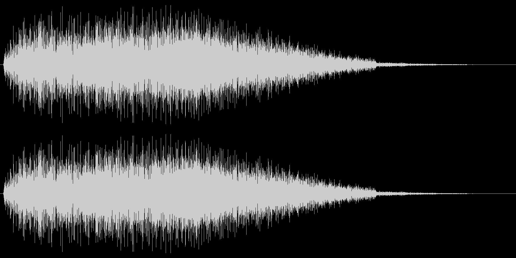 ゲームで使う事を想定したノイズ音(ズザ…の未再生の波形