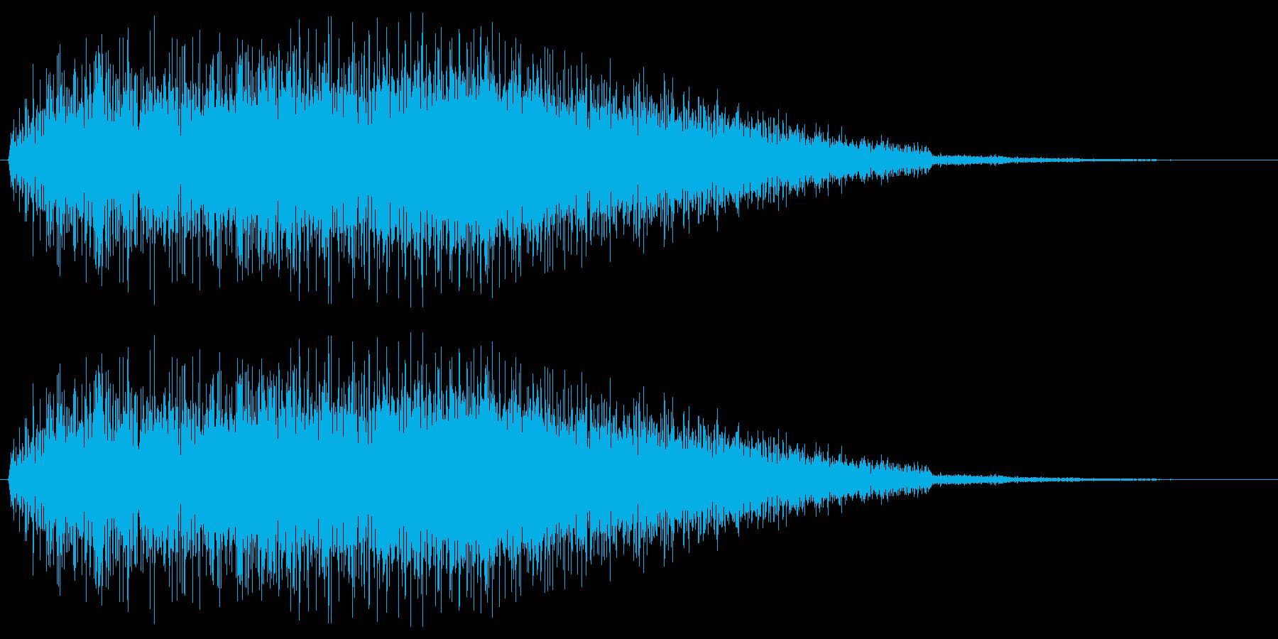 ゲームで使う事を想定したノイズ音(ズザ…の再生済みの波形