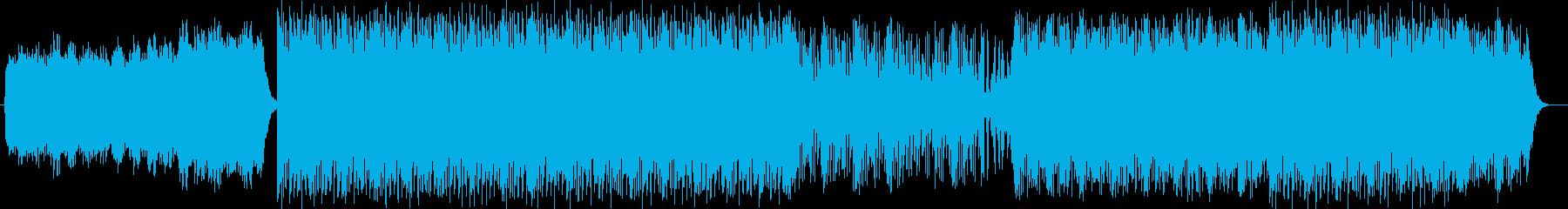 不思議な浮遊感疾走感のあるテクノの曲の再生済みの波形