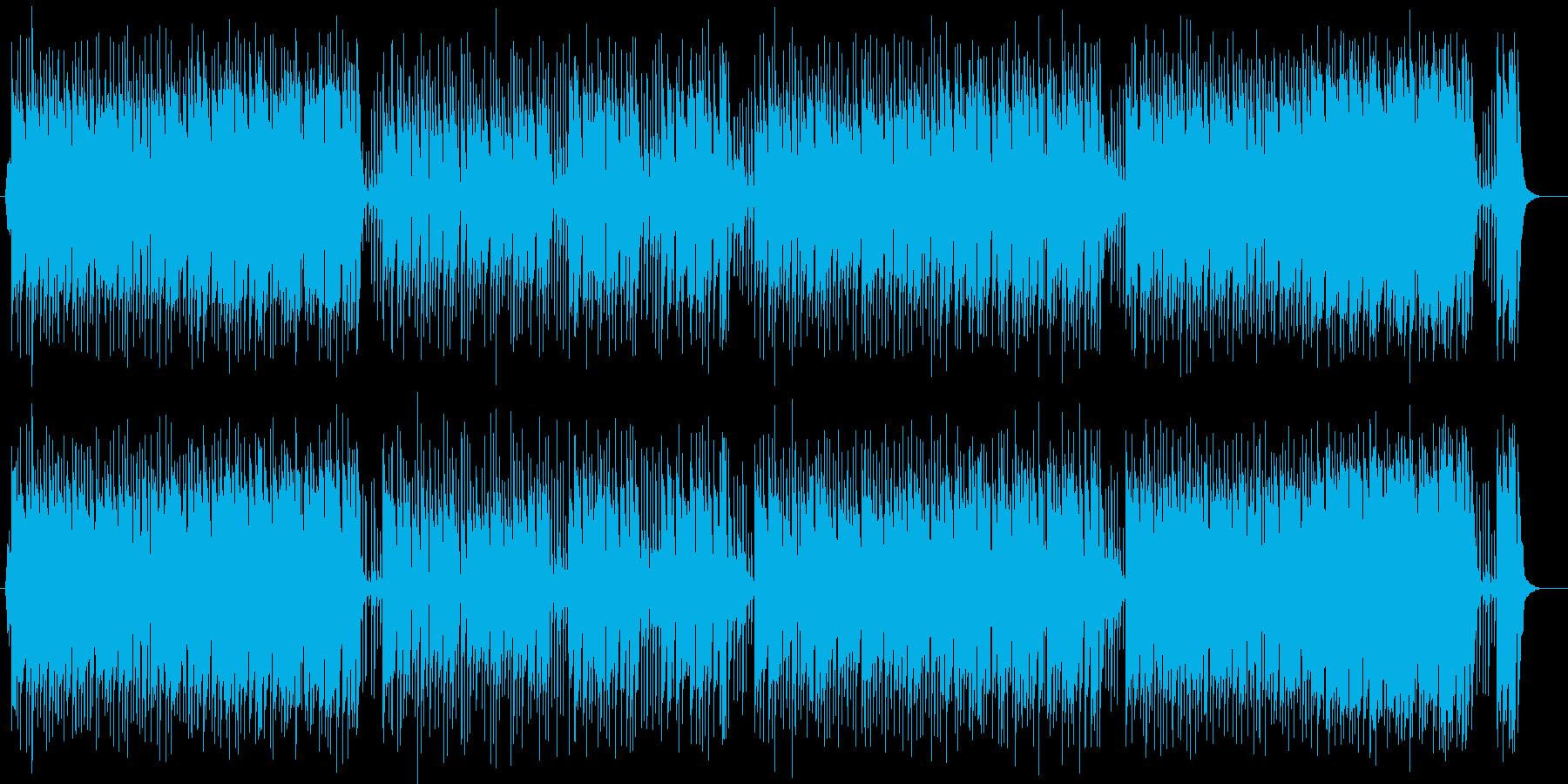 明るくうきうきする弾みのある曲の再生済みの波形
