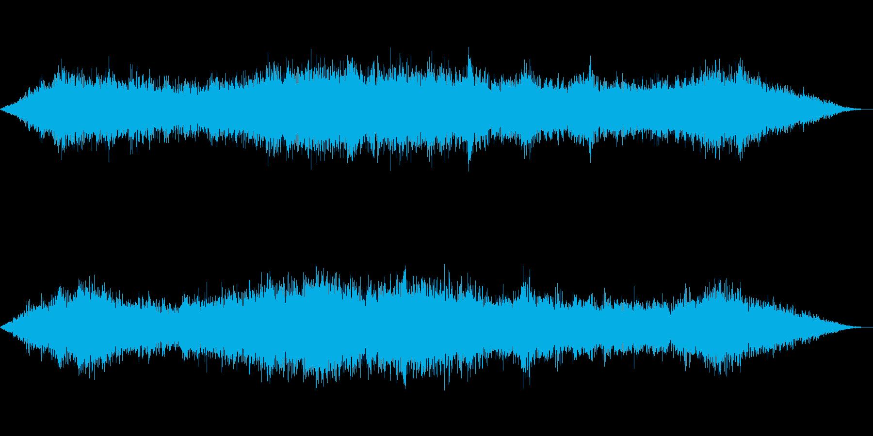 風の効果音(強風、木枯らし、ビル風等)5の再生済みの波形