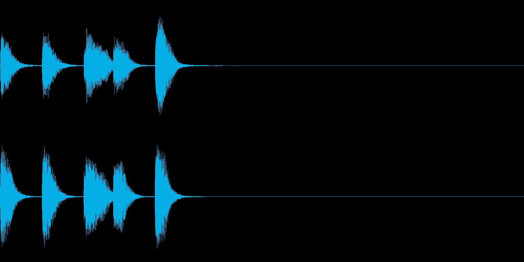 やさしいピアノ・サウンドロゴ9の再生済みの波形