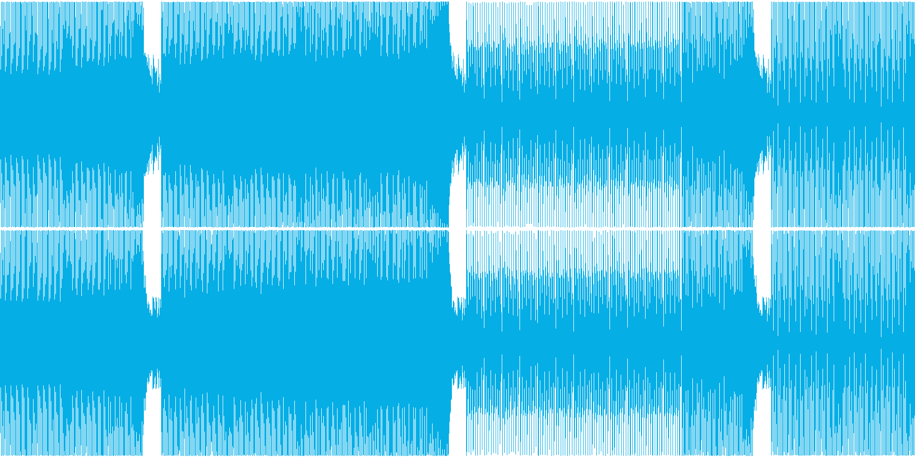 EDM スピード感 走る サッカー 動画の再生済みの波形