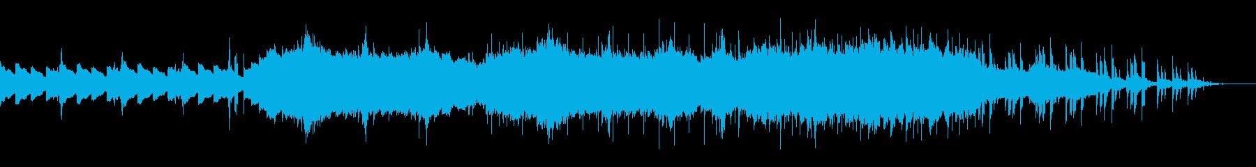 ピアノを基調としたエレクトロニカの再生済みの波形