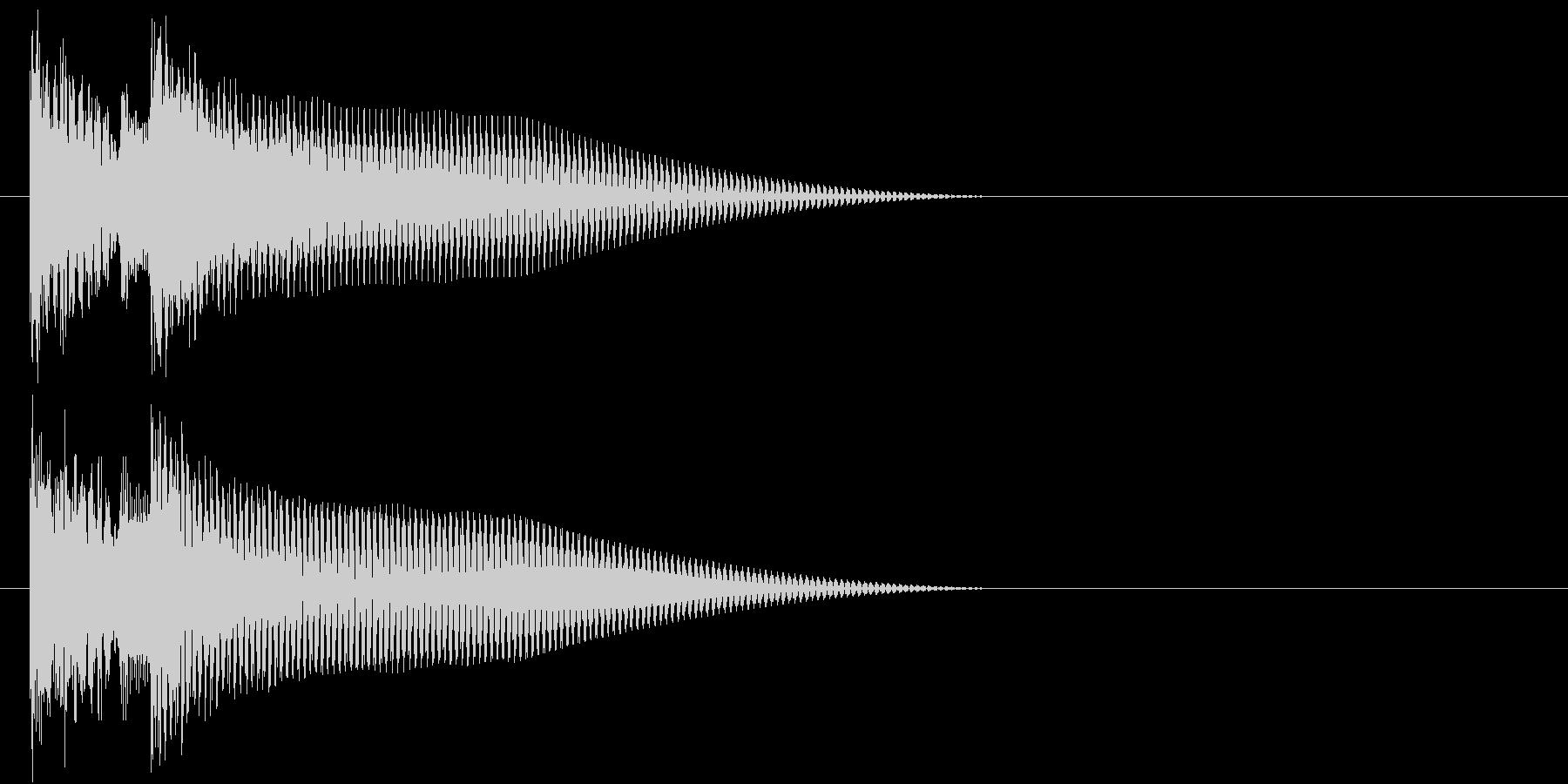 終わりや場面転換を表現したジングルの未再生の波形