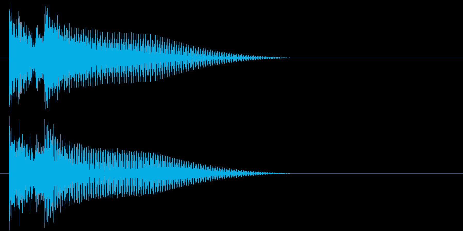 終わりや場面転換を表現したジングルの再生済みの波形