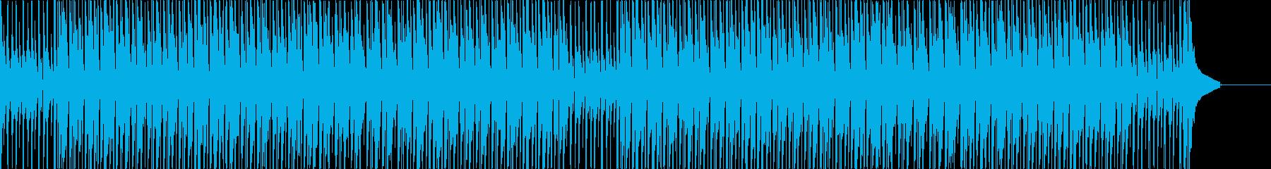 ウクレレとグロッケンの軽快で前向きな曲の再生済みの波形