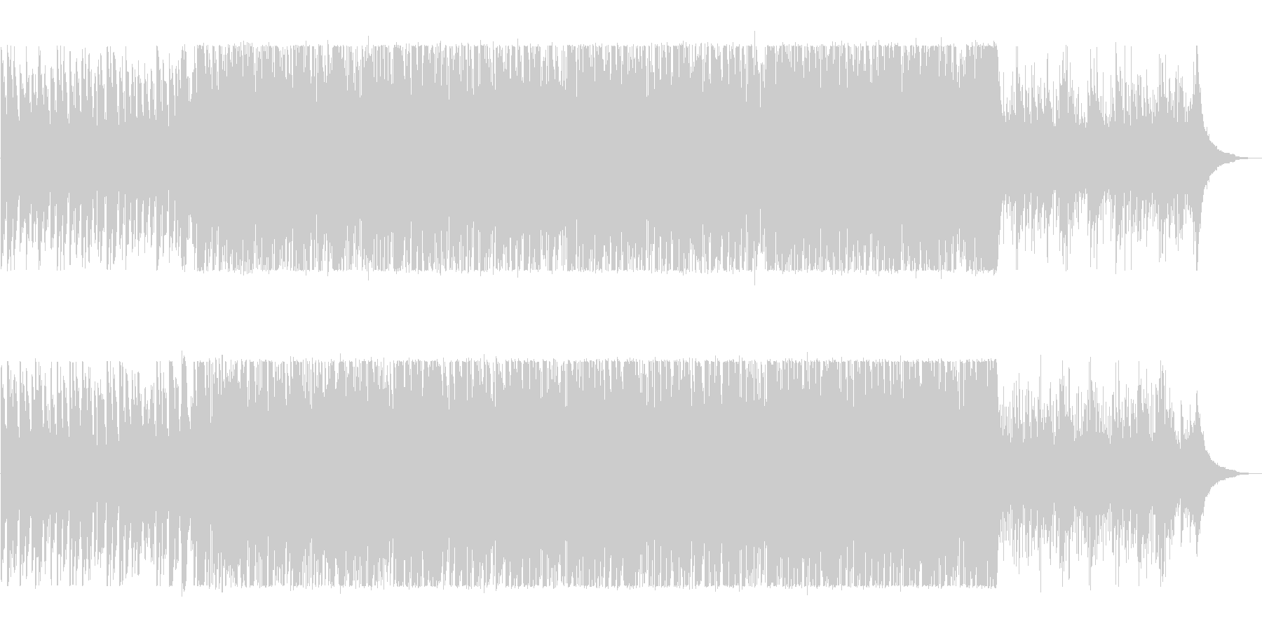 明るく軽快なピアノポップスの未再生の波形