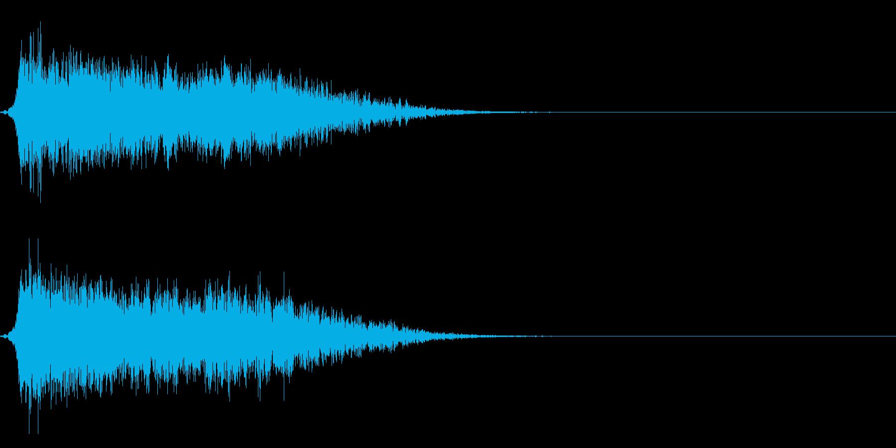 コミカルなダッシュ,ジャンプ効果音!6cの再生済みの波形
