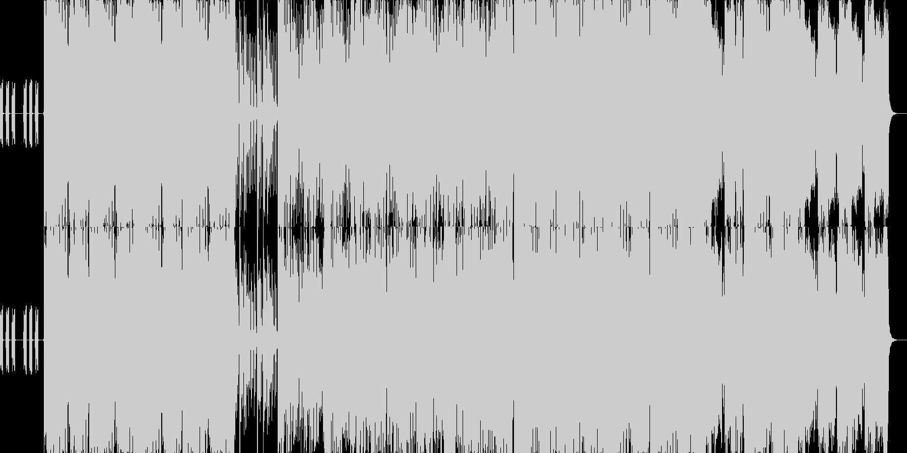 エモーショナルなエレクトロニカソングの未再生の波形