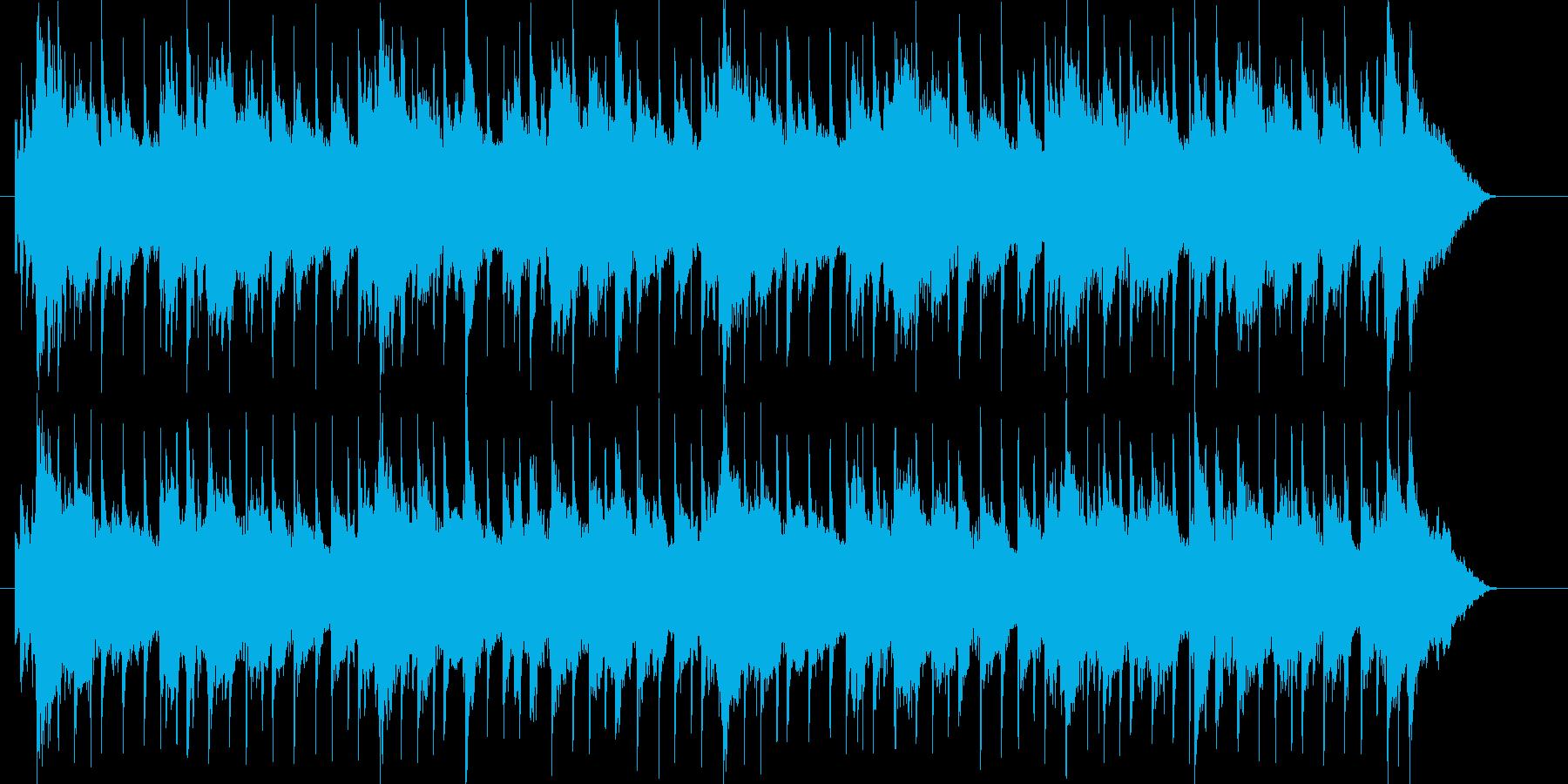 アコギメインのしっとりして落ち着くBGMの再生済みの波形