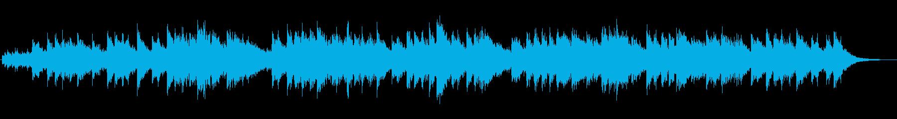 シンセの不思議な世界のジングルの再生済みの波形