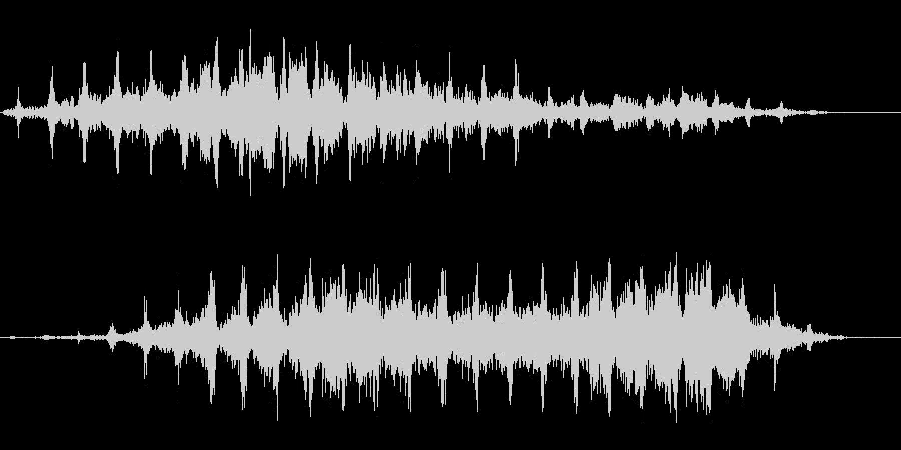 シャシャシャ(高い刻みのついた効果音)の未再生の波形